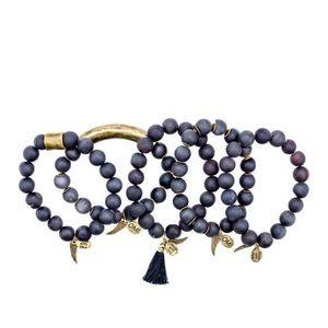 Omi bead bracelet stack